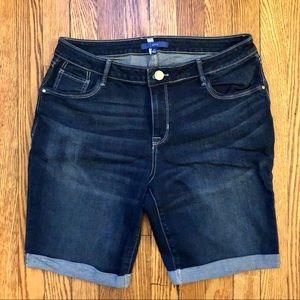 Apt. 9 Dark Wash Bermuda Jean Shorts 14